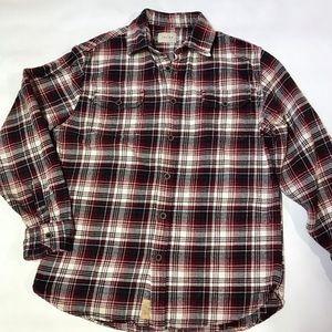 Jachs Men's Button Up Flannel Shirt Sz Medium Red